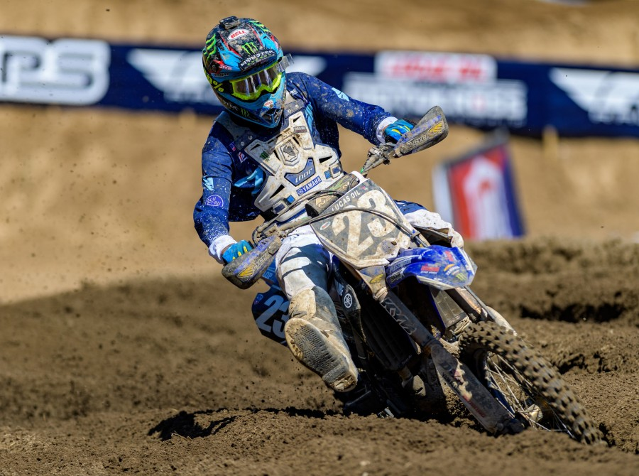 Monster athletes compete in the 2018 Hangtown Motocross Classic race in Rancho Cordova, CA
