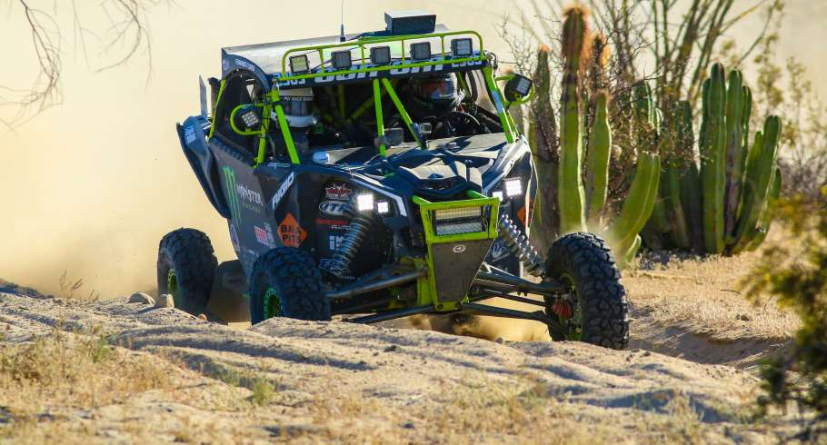 Monster drivers at the 2017 Baja 250 in San Felipe, Mexico