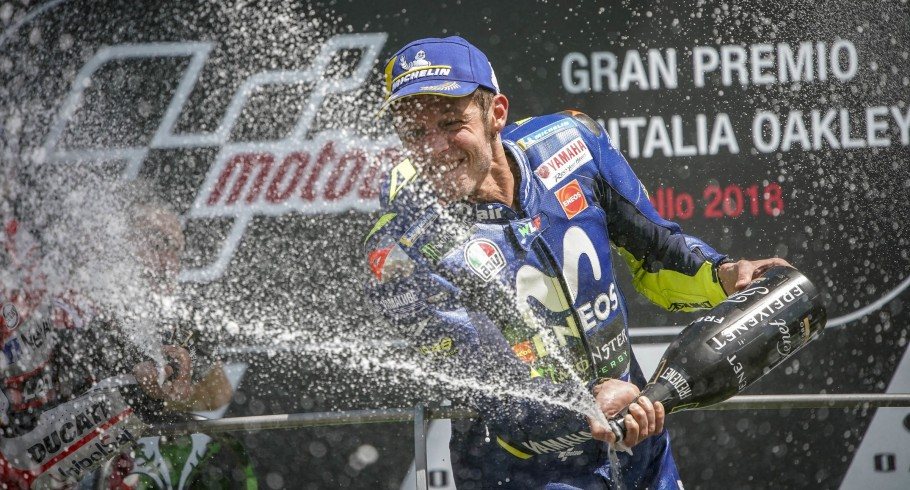 Valentino Rossi during sunday race, podium celebration and starting grid at Mugello GP 2018