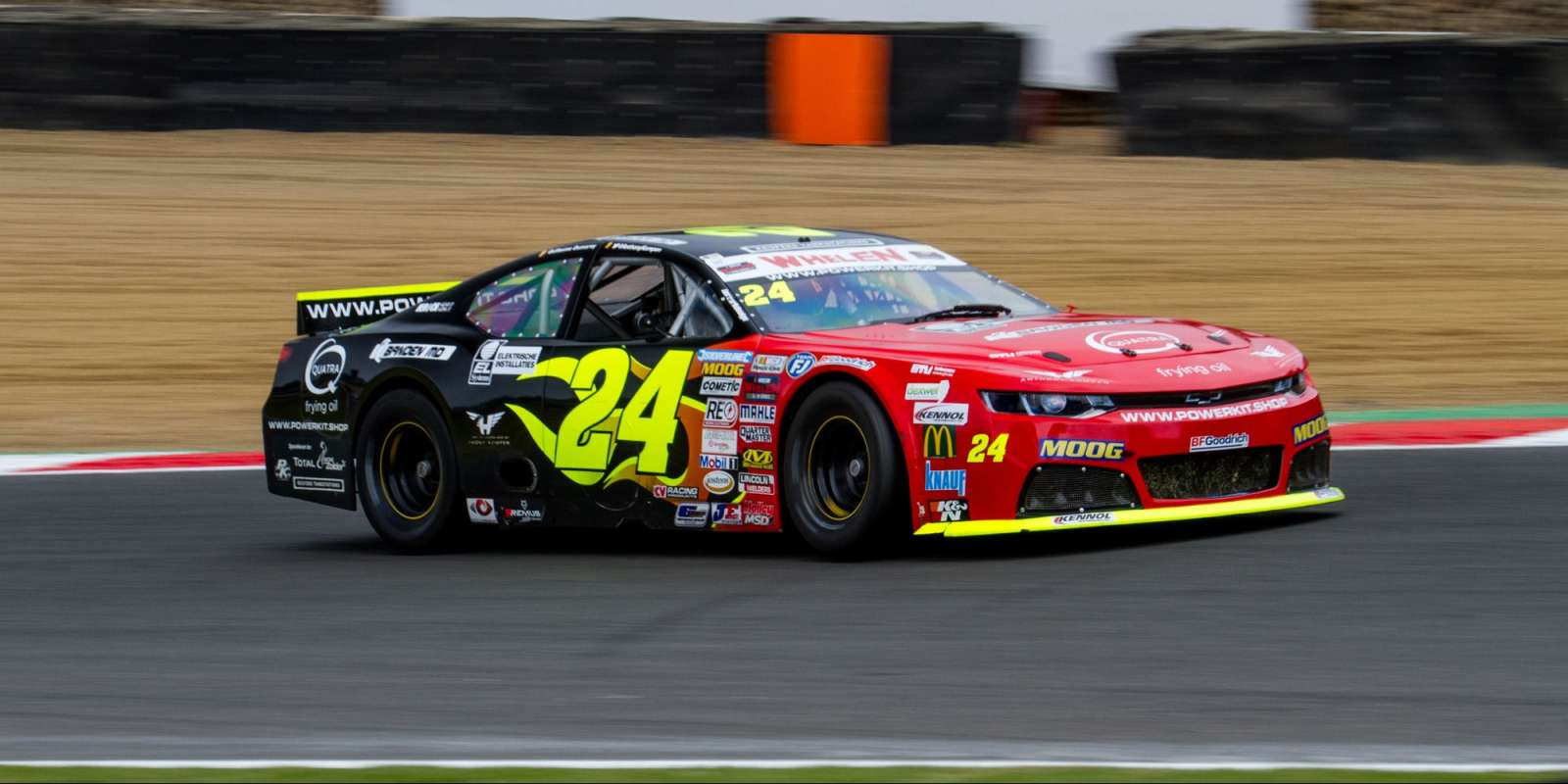 Action shots of Anthony Kumpen during the first raceday at American Speedfest 2018, Brands Hatch, UK