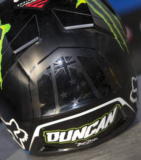 mylid photographs of Courtney Duncan's MXGP helmet
