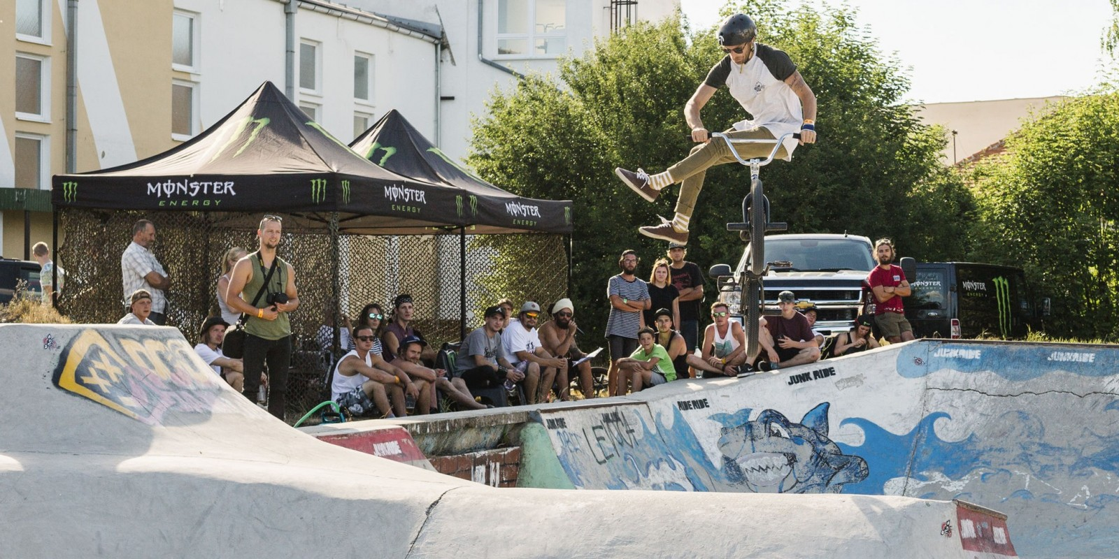 Junkride Pool Jam Surany. BMX and MTB competition in SLovakia,