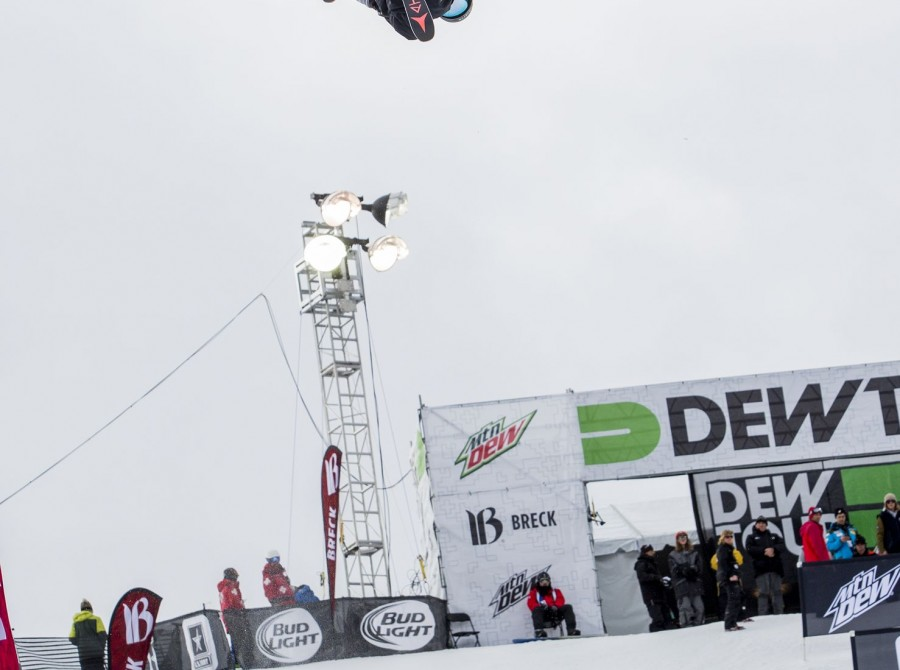 Beau-James Wells at the Winter Dew Tour in Breckenridge, CO