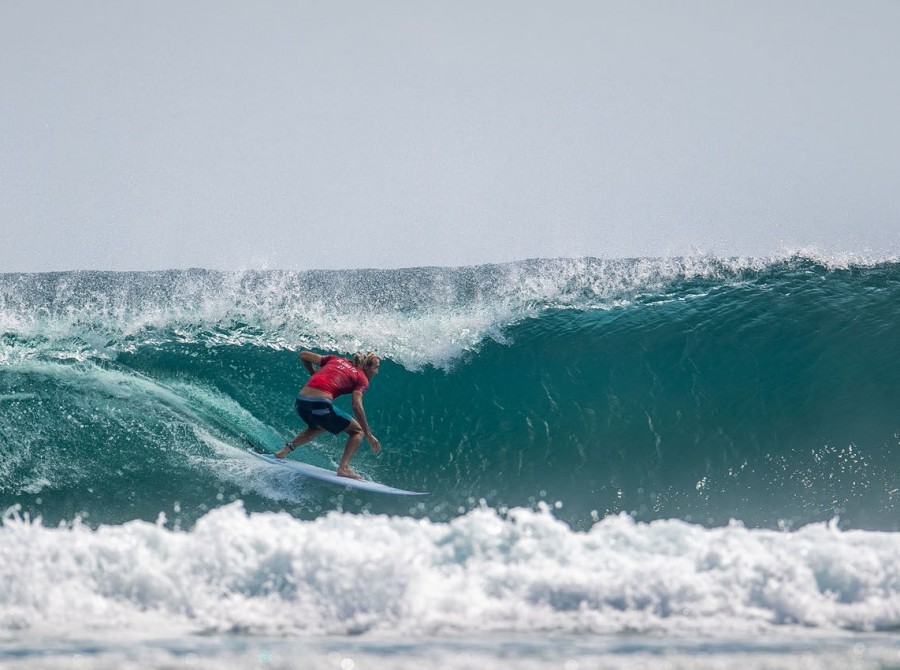 Image from round 3 of the surf event in Bail, Indonesia