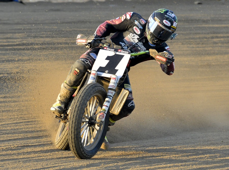 Monster athletes compete in the 2018 Flat Track Indian Motorcycle Lima Half-Mile stop in Allen County Fairgrounds – Lima, OH