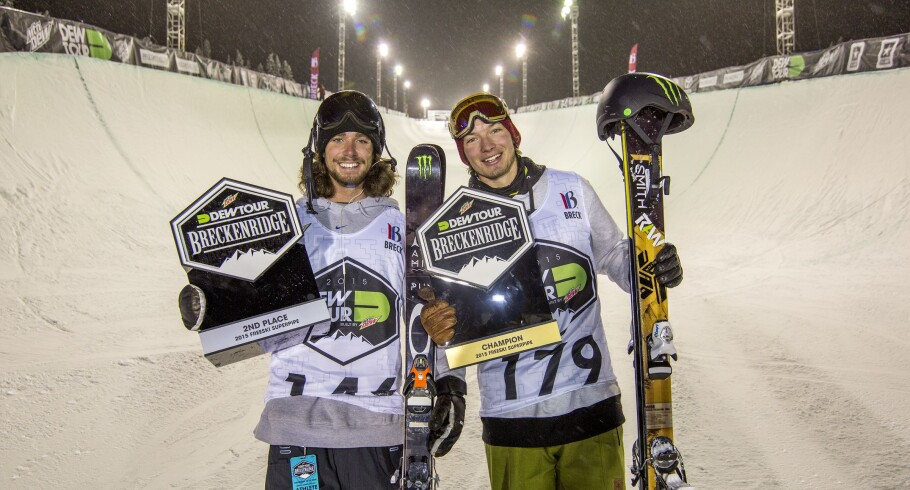 Beau-James Wells & David Wise at the Winter Dew Tour in Breckenridge, CO