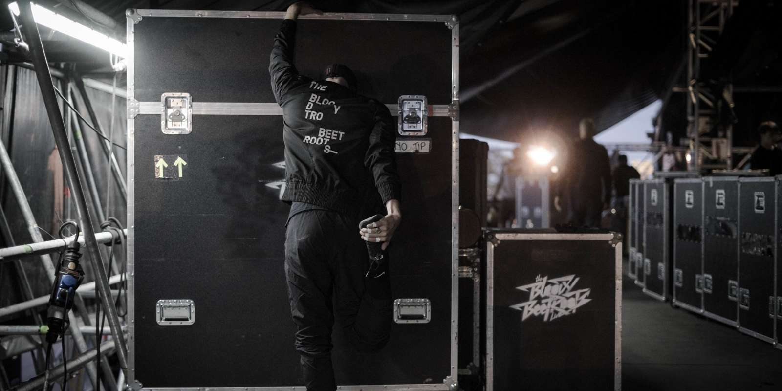 The Bloody Beetroots, backstage, live, signing session, at Nova Rock Festival 2018, Nickelsdorf Austria