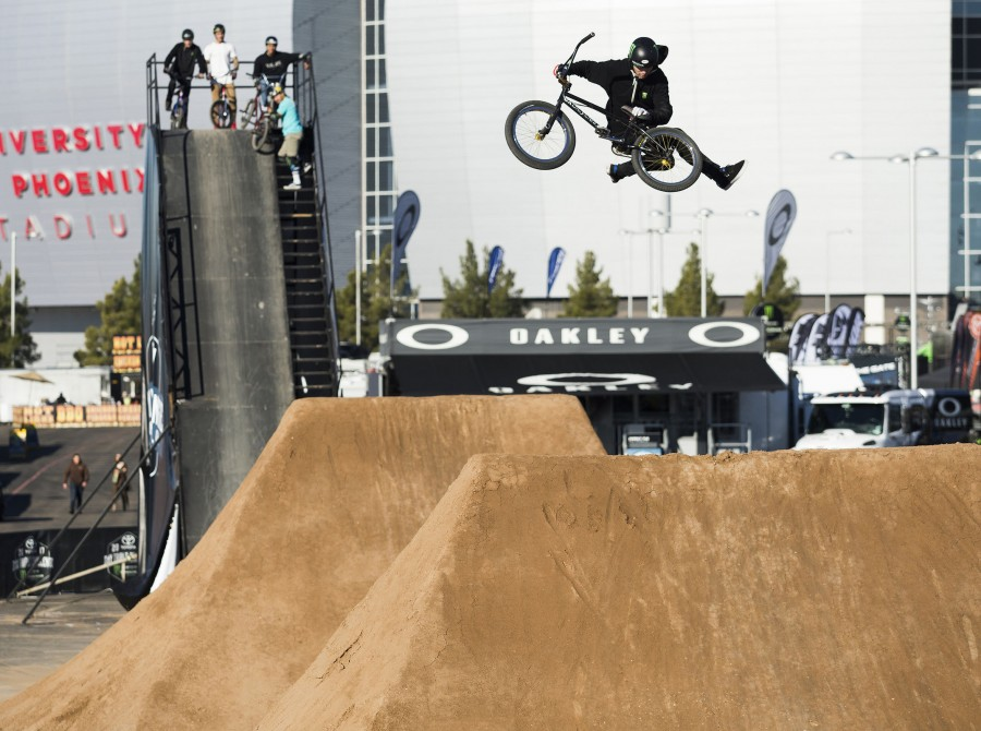 Mike Varga during the 2017 BMX Triple Challenge for round 2 at Supercross in Glendale, Arizona