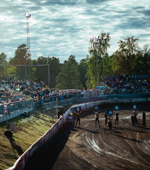 Images from round four of the 2018 Speedway Grand Prix series from Hallstavik, Sweden