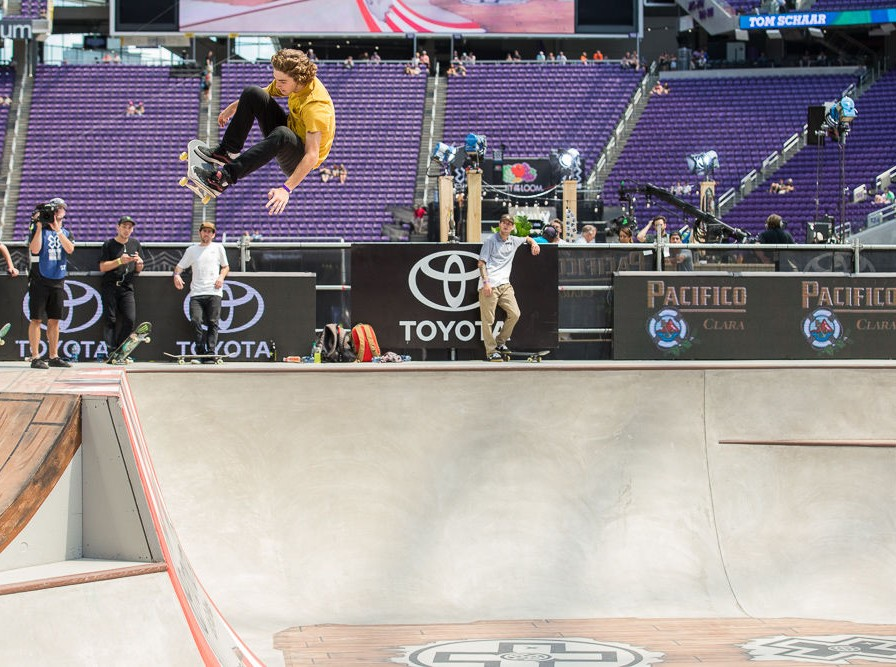 Tom Schaar Silver Medal Skateboard Park at Summer X Games