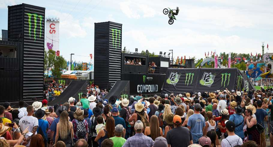 Action, Lifestyle and Ambient photos from the Monster Compound at the 2018 Calgary Stampede