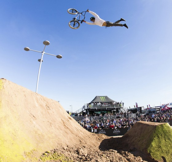 Monster BMX athletes at the third and final stop in Glendale