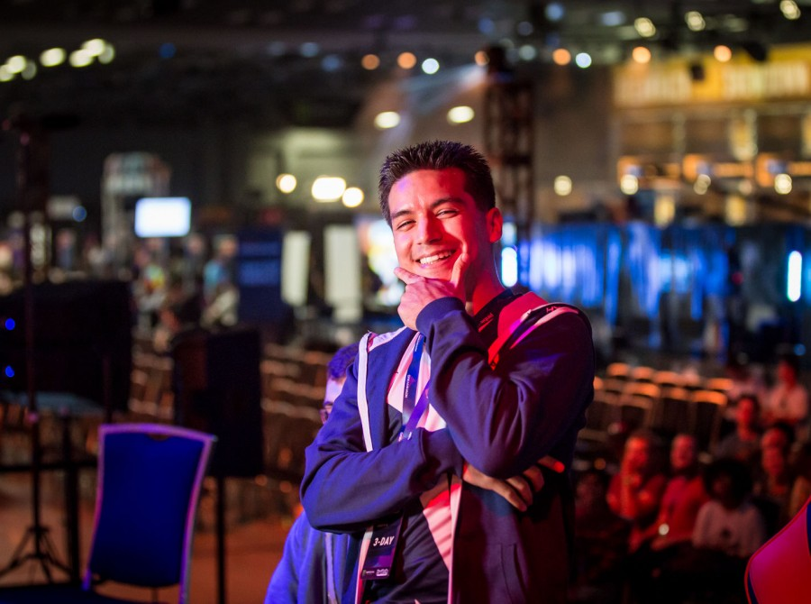 Photos of Team Liquid Fighting Games players at DreamHack Austin in Austin, Texas.