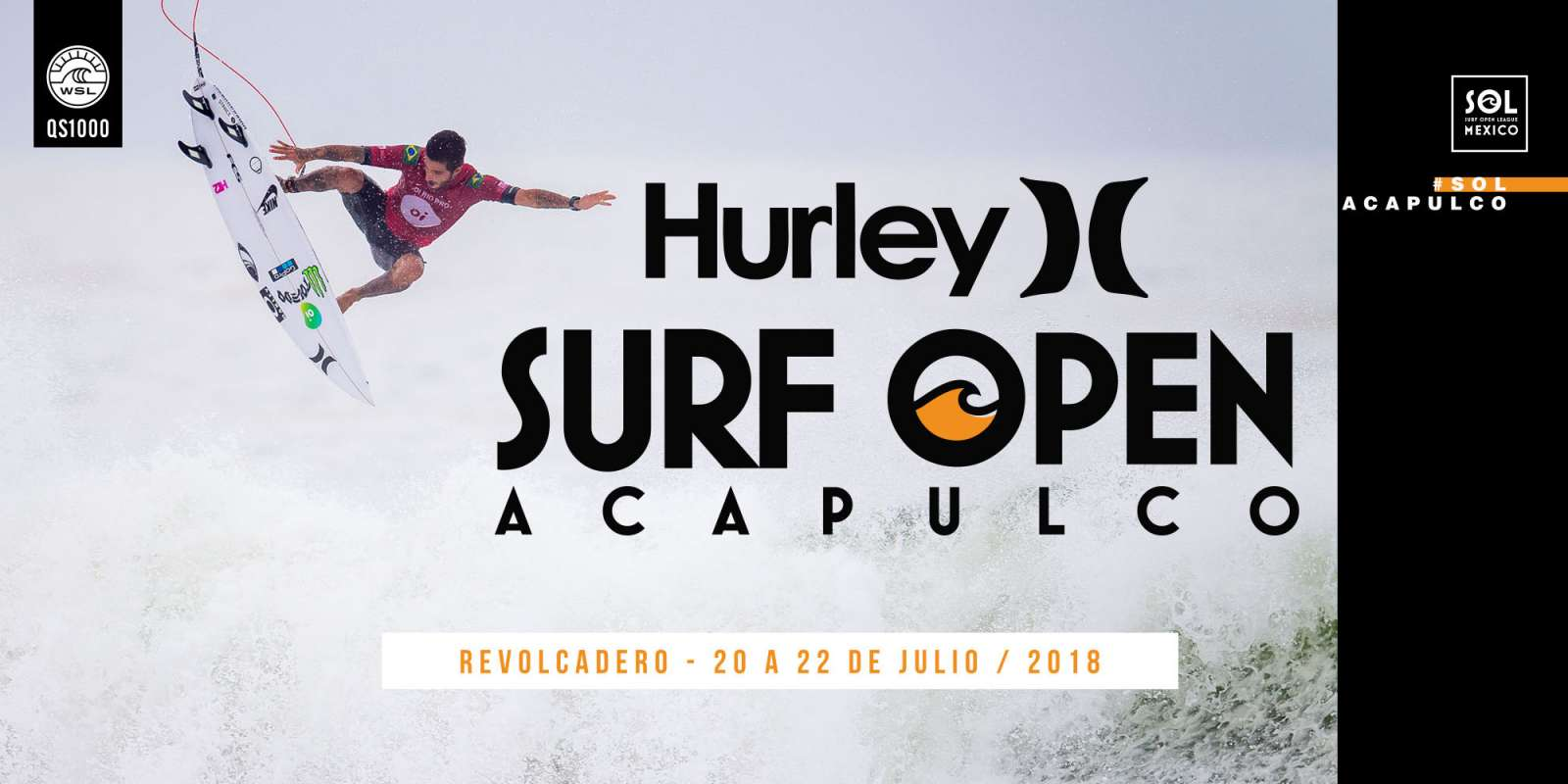 Hurley Surf Open Acapulco Event Banner