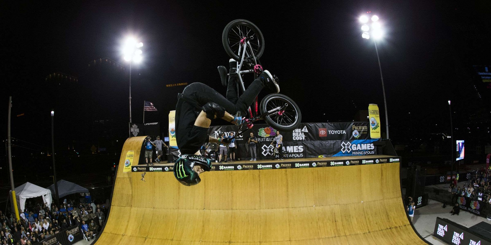 Shots of Jamie Bestwick at Summer X Games, Minneapolis