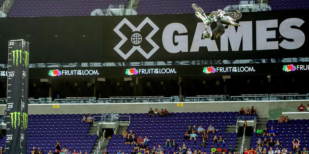 Moto X QuarterPipe High Air gold medal images – his first career X Games gold – brings Hodges medal count to three