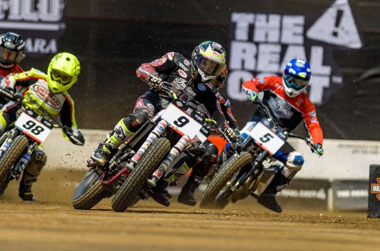 Jared Mees wins gold in Harley-Davidson Flat Track Racing & Harley Hooligan Racing Final at 2018 Summer X Games in Minneapolis