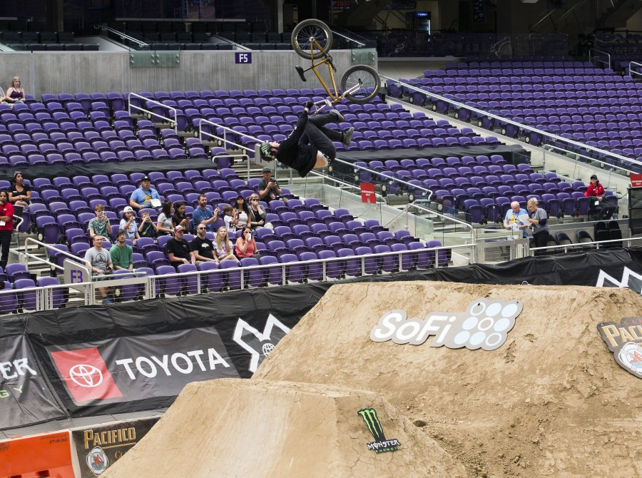 BMX Monster athletes compete in the 2018 Summer X Games