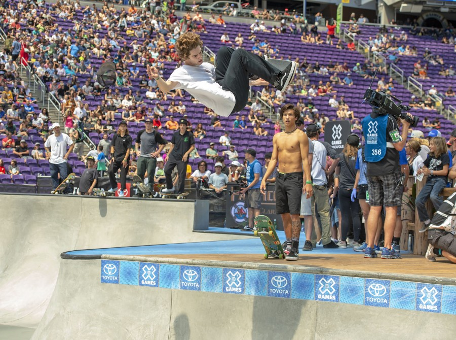 Tom Scharr at the 2018 Summer X Games Big Air competition