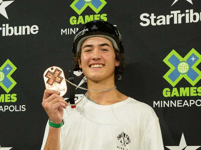 Trey Wood wins bronze at The Real Cost Skateboard Big Air competition during the 2018 Summer X Games