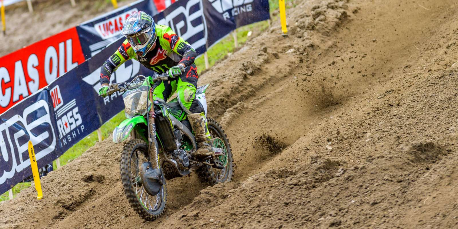 Monster athletes compete in the 2018 Lucas Oil Motocross Championship
