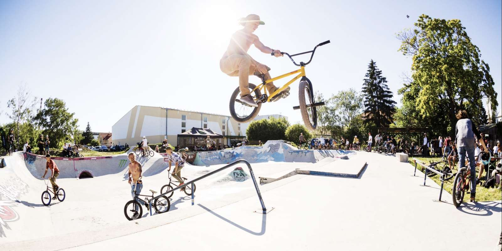 Bmx Pool competition and BMX and MTB dirt competition in Surany, Slovakia
