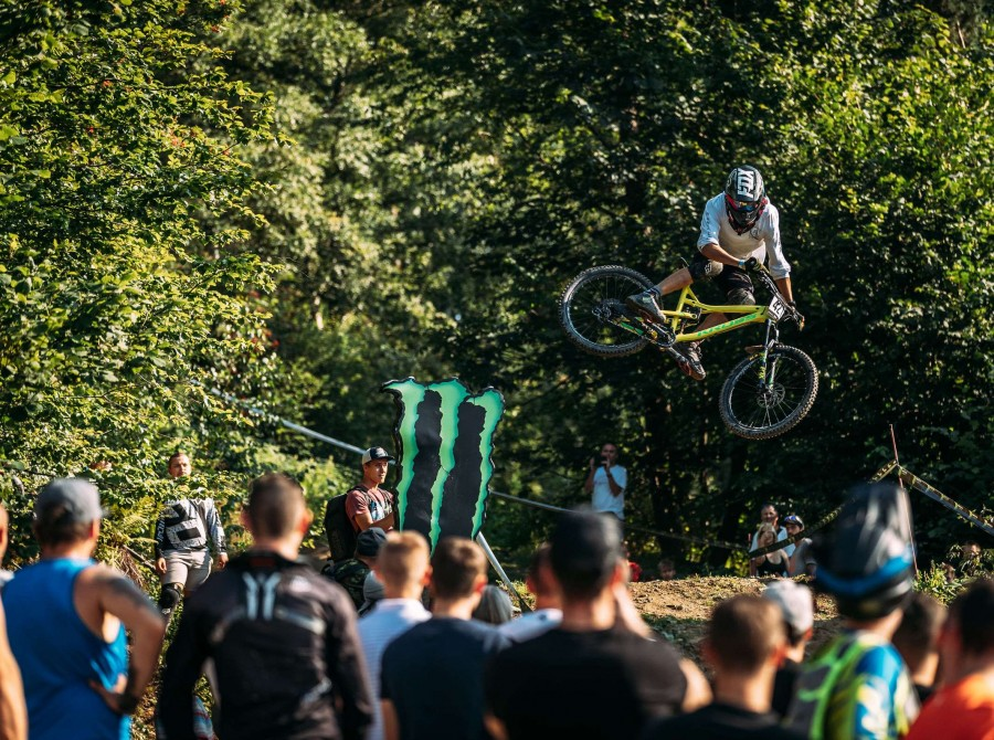Photographs from the Polish Championship Diverse Downhill Contest at Kasina Wielka in Poland.