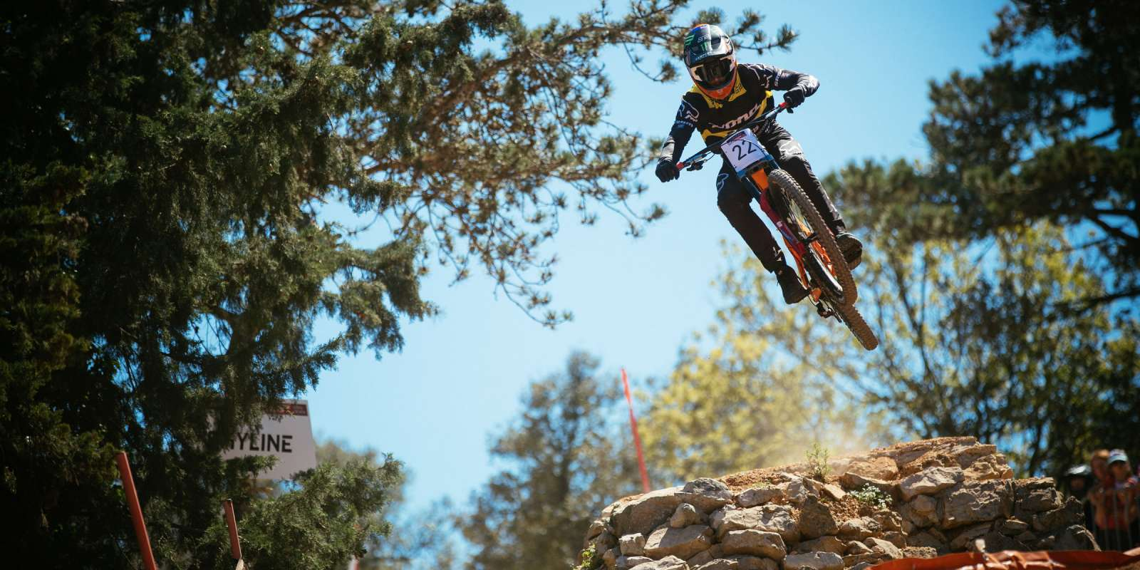 Connor Fearon at the 2018 UCI Mountain Bike World Cup - DH Croatia