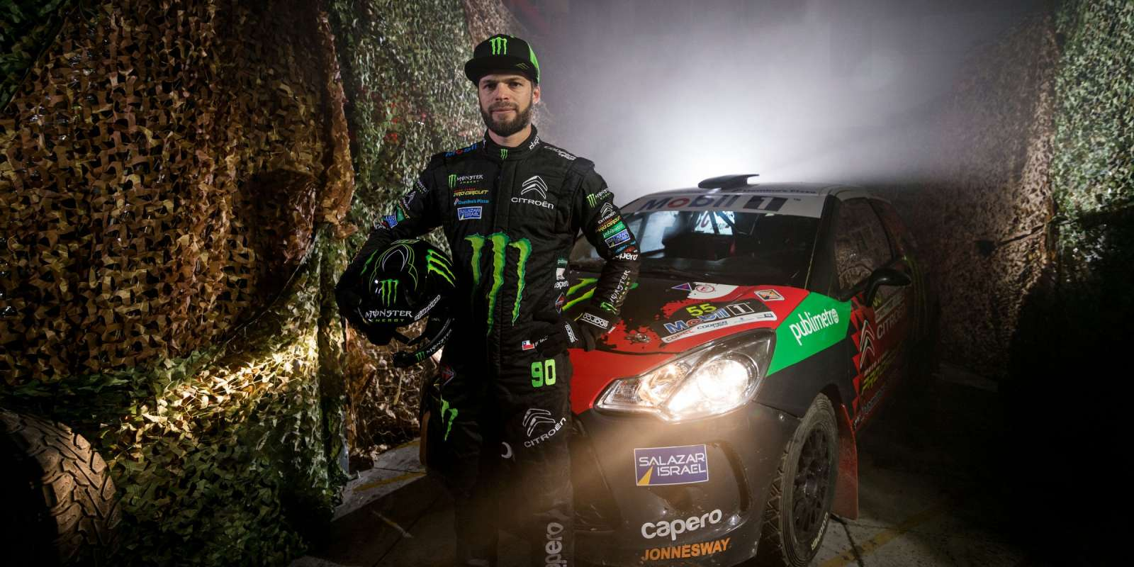 Photo from video project shooting with Monster Energy Chile Rally Team