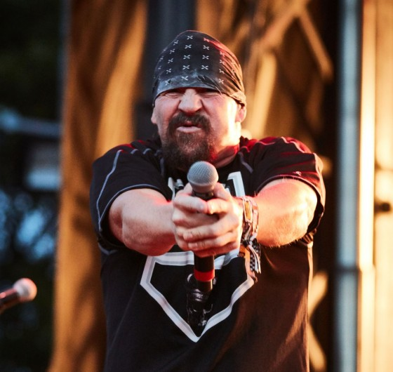 Some live and action shots of Suicidal Tendencies at the Monster Energy Triple Stack container and on stage at the '77 Montreal Punk Rock Festival in Montreal, Canada.