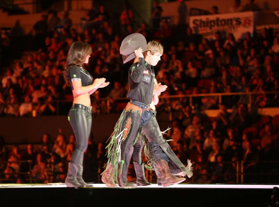 Derek Kolbaba in the opening during the second round of the Billings PBR 25th Anniversary Unleash the Beast