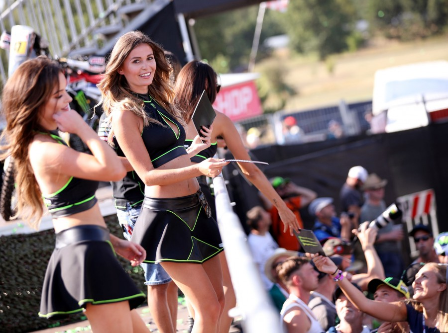 Shots of Monster Girls at MXGP in Brno