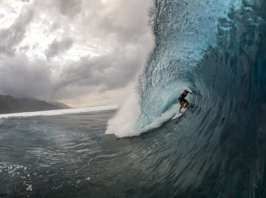 image from the ASP World Tour held at the break Teahupo'o in Taiarapu, Tahiti
