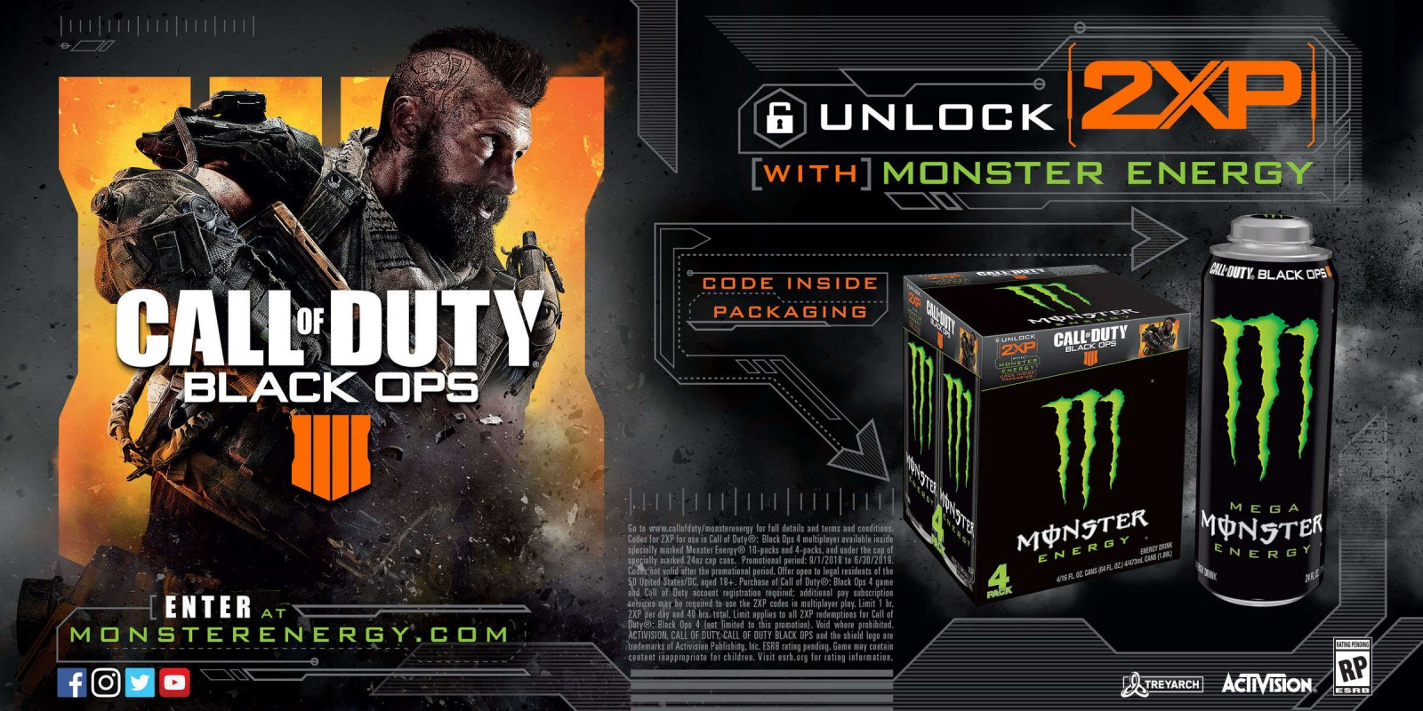 Monster Energy x Call of Duty: Black Ops 4 Code Redemption