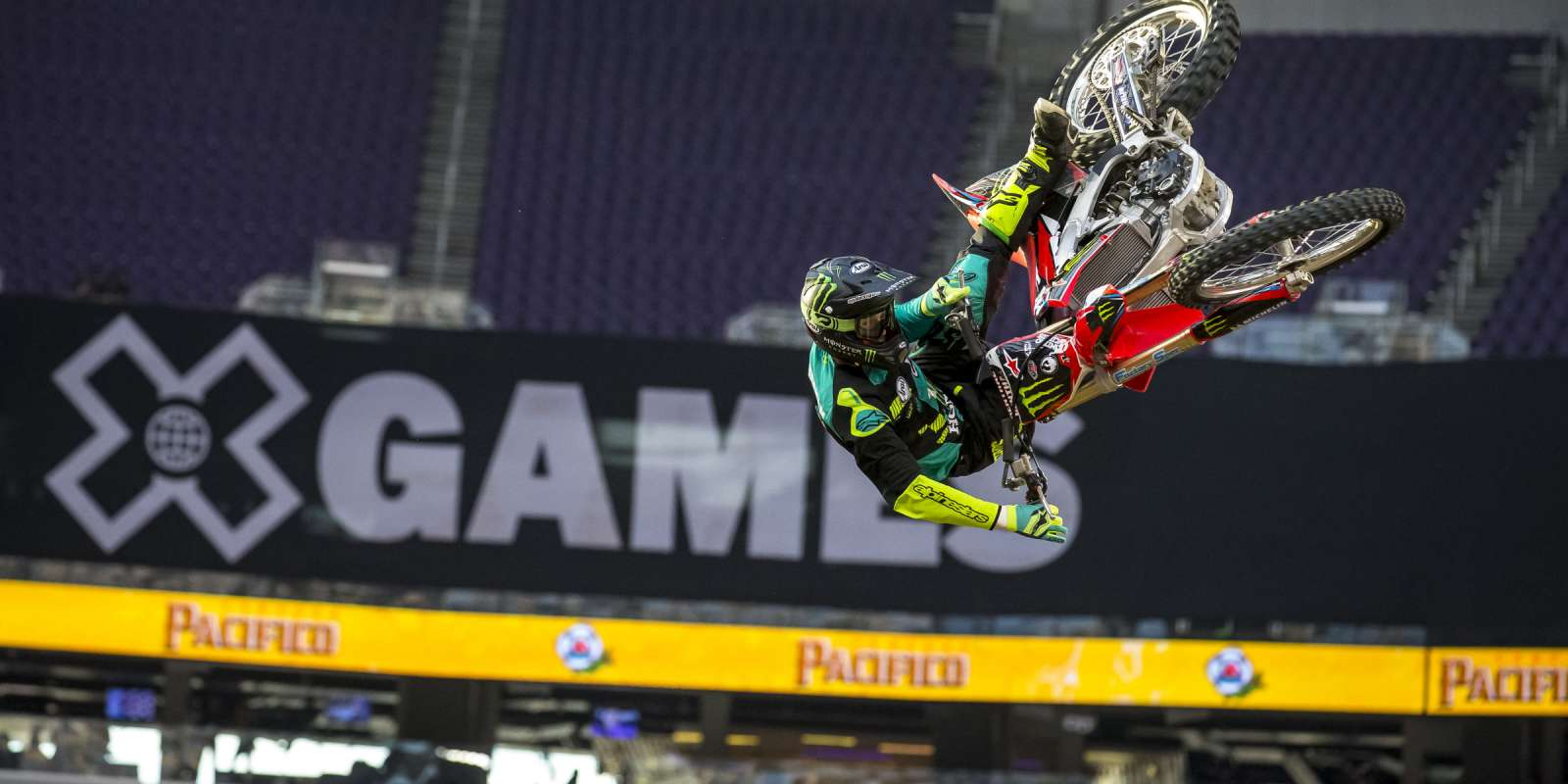 Monster athletes compete in the 2018 FMX Summer X Games in Minneapolis