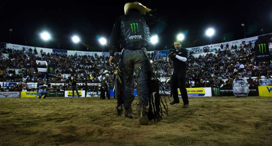 Cuernos Chuecos Bull Riding competition at Leon- January
