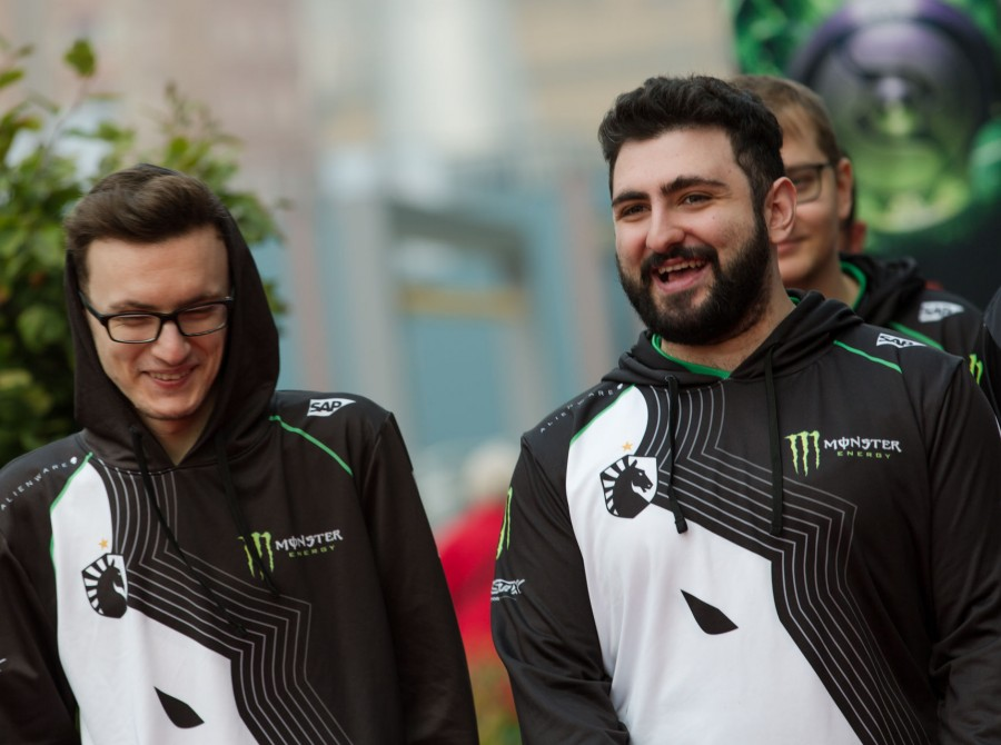 Photos of Team Liquid's Dota 2 team at The International 2018 in Vancouver, Canada