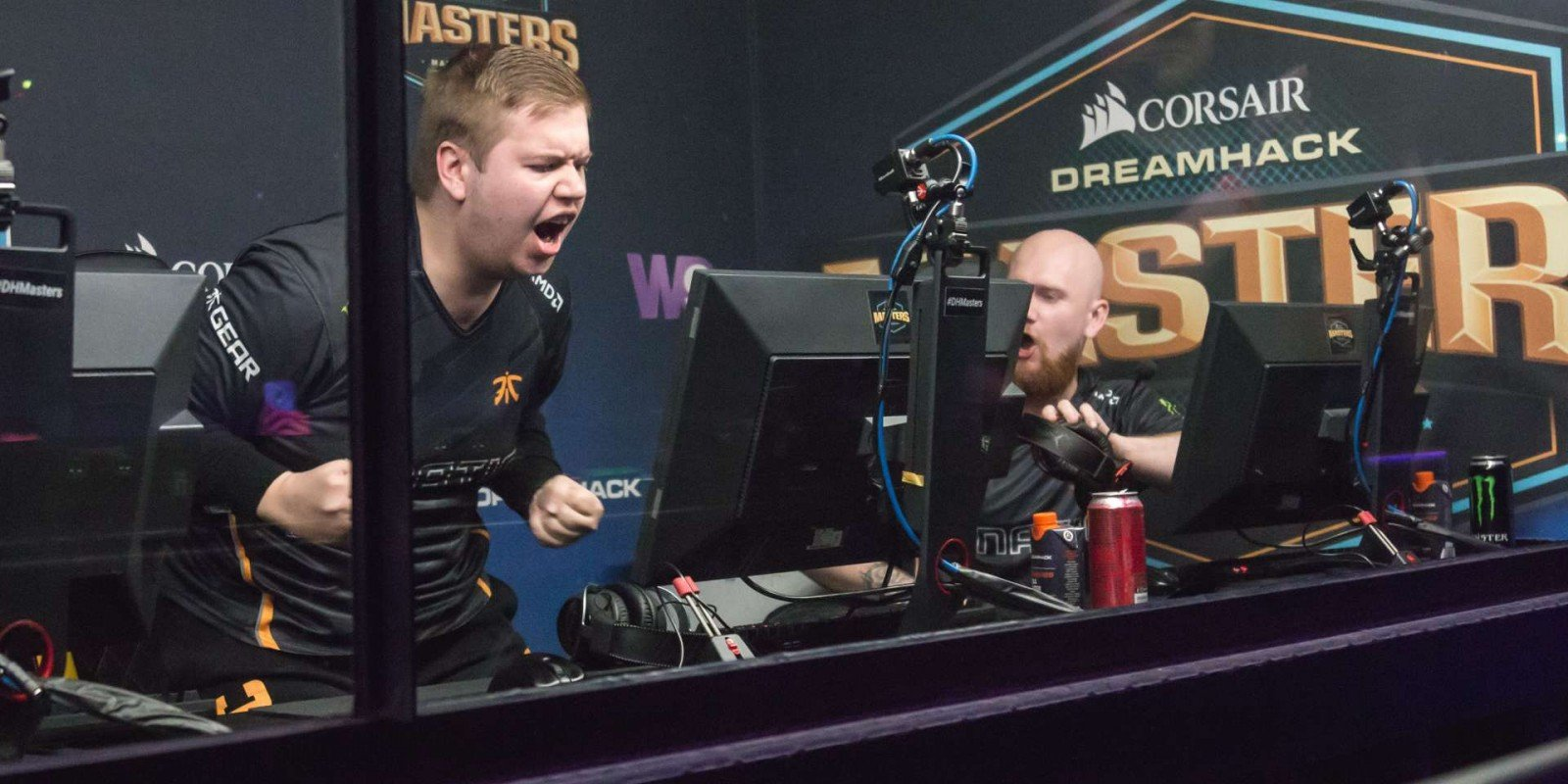 Photos of Fnatic playing Counter-Strike: Global Offensive at DreamHack Masters in Marseille, France