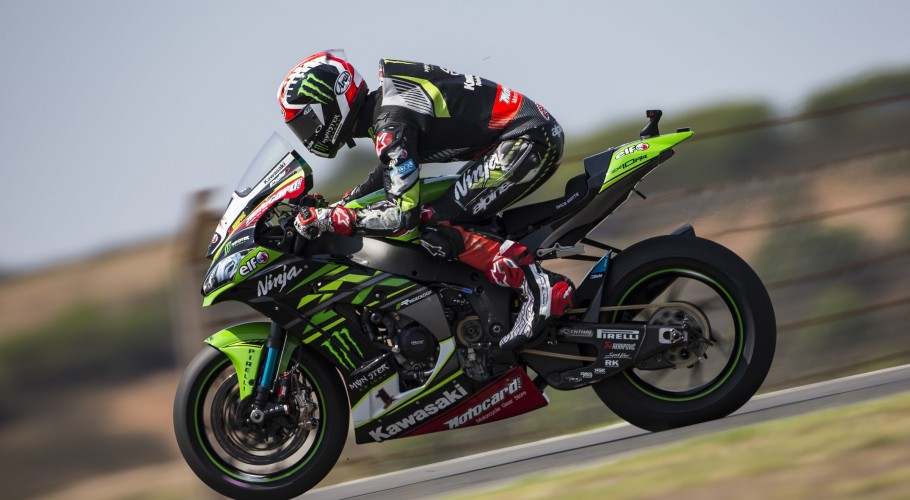 Jonathan Rea at the 2018 WorldSBK Portugal round