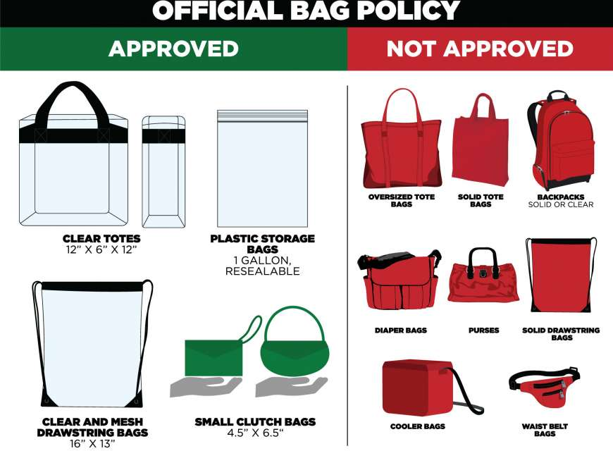 DWP music festival bag policy graphic