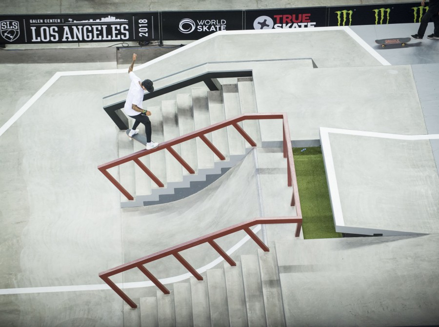 Image from the 2018 Street League Series in Los Angeles, CA
