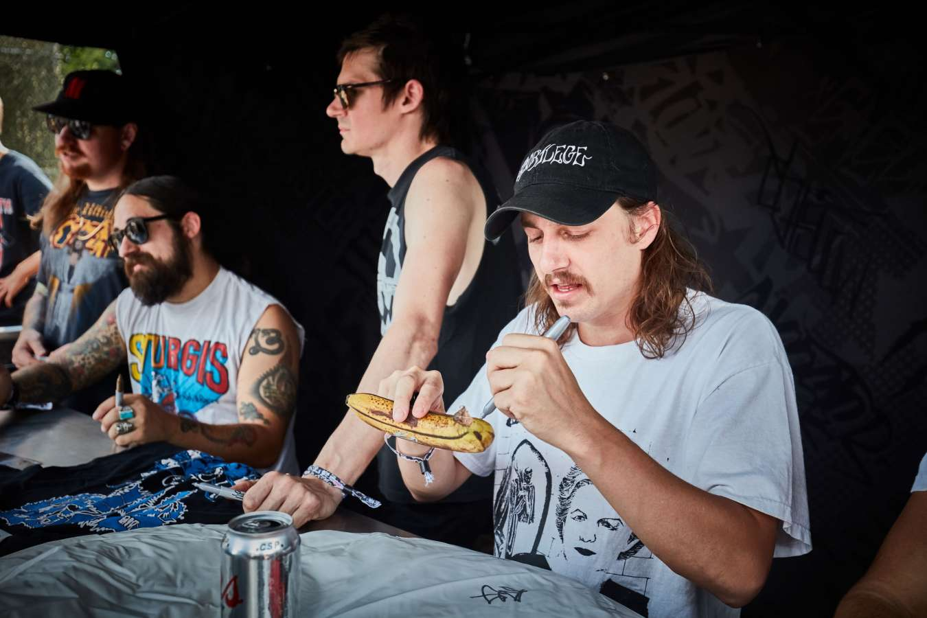 Live and signing photos of Power Trip from Heavy Montreal 2018