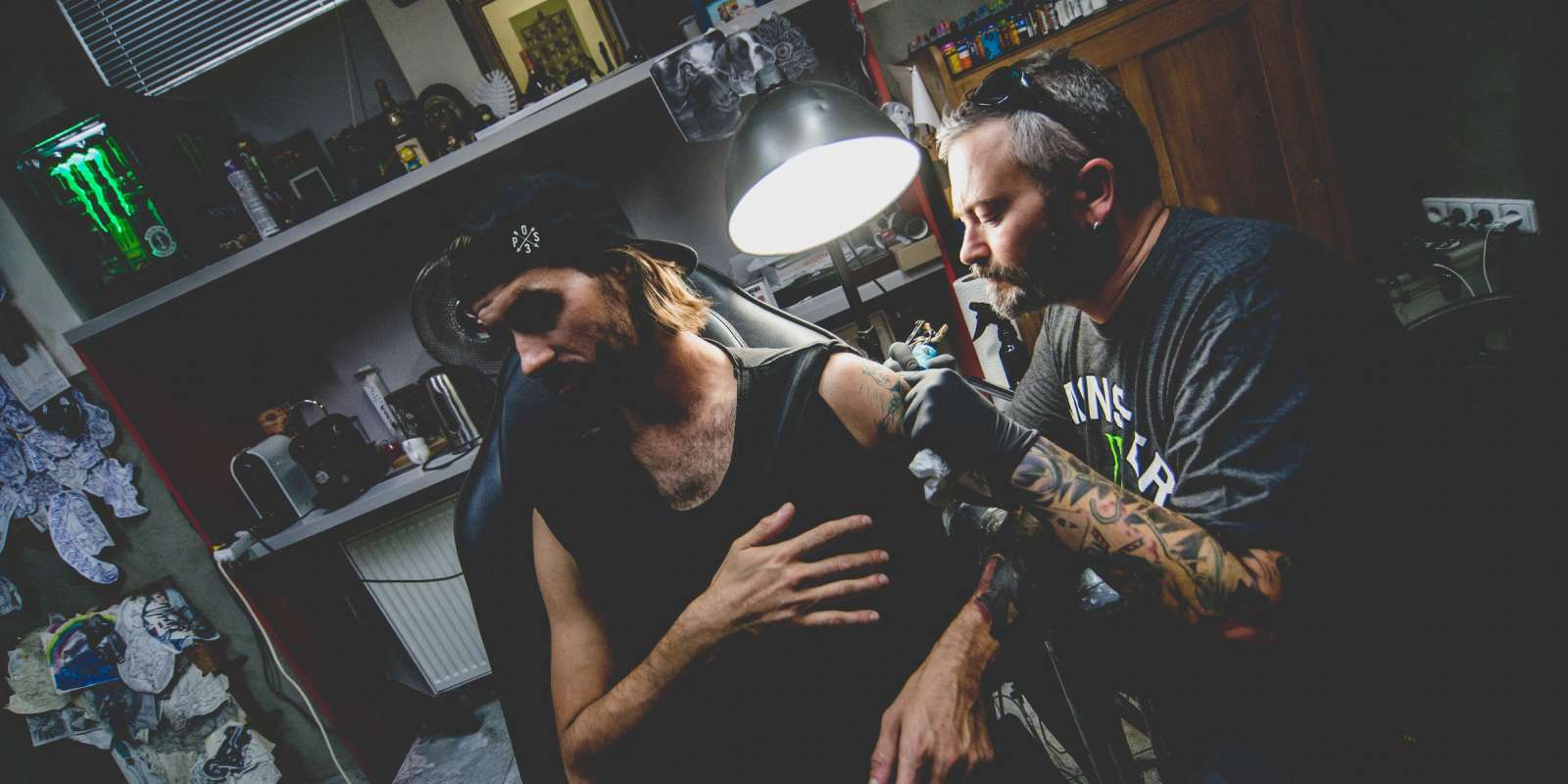 Voky tattoo studio photos, Prague 2018