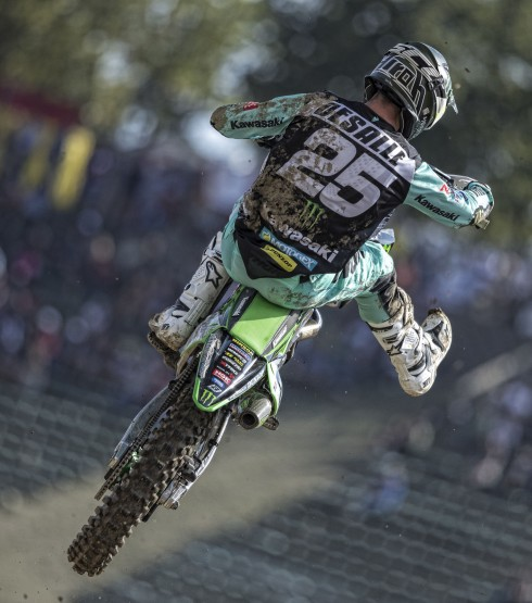 Clement Desalle in action at MXGP italy, Imola 2018