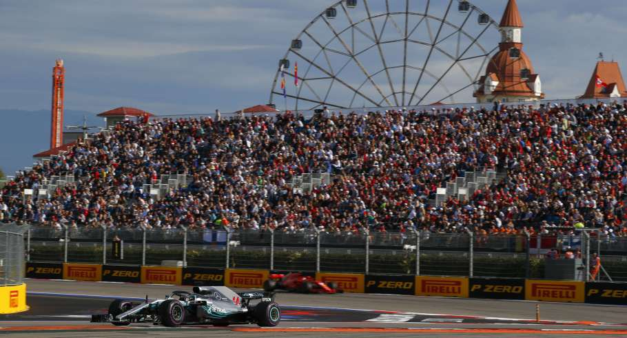 Sunday images from the 2018 Russian Grand Prix