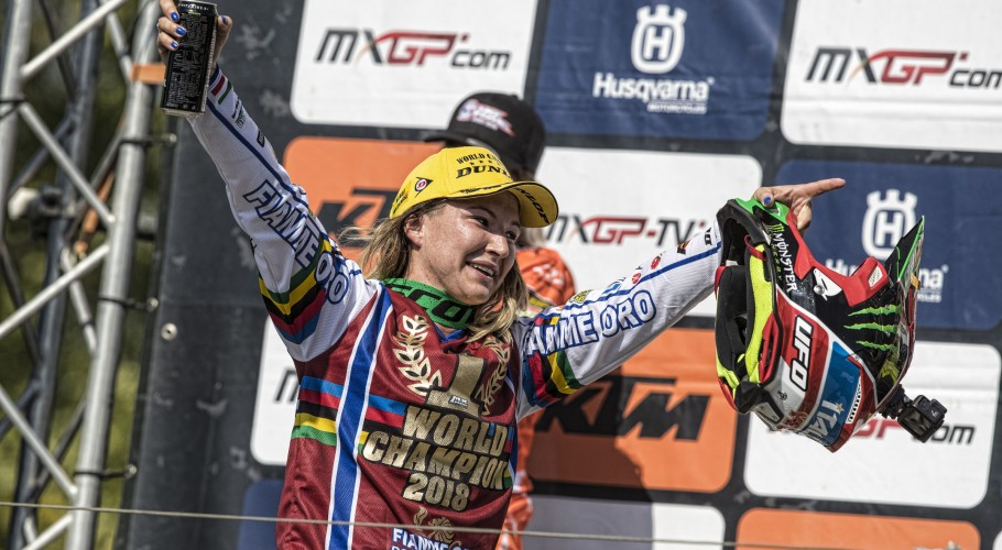 Kiara Fontanesi at the 2018 Grand Prix of Italy and world champion again