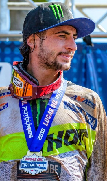 Dylan Ferrandis competes in the 2018 Lucas Oil Pro Motocross Championship in Southwick, MA
