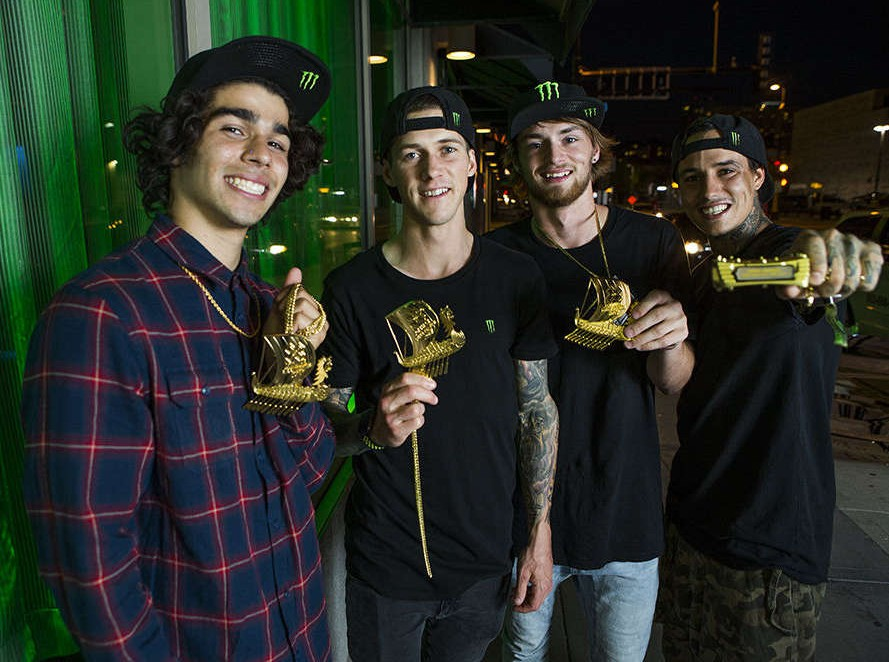 Winners of the BMX event at the 2017 Summer X Games