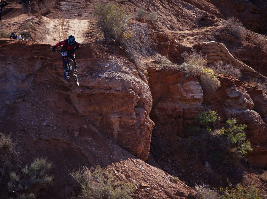 Images from the Red Bull Rampage freeride mountain bike competition held near Zion National Park in Virgin, Utah
