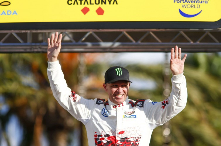 Images of Petter Solberg competing in the Spanish round of the 2018 WRC Championship